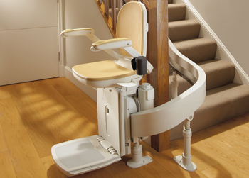 Stairlift Model For Curved Non Striaght Staircases