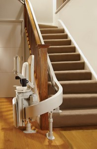 Modern Stairlift WIth Foldable Seat and Features